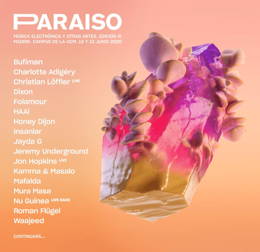avance cartel paraíso festival 2020 madrid