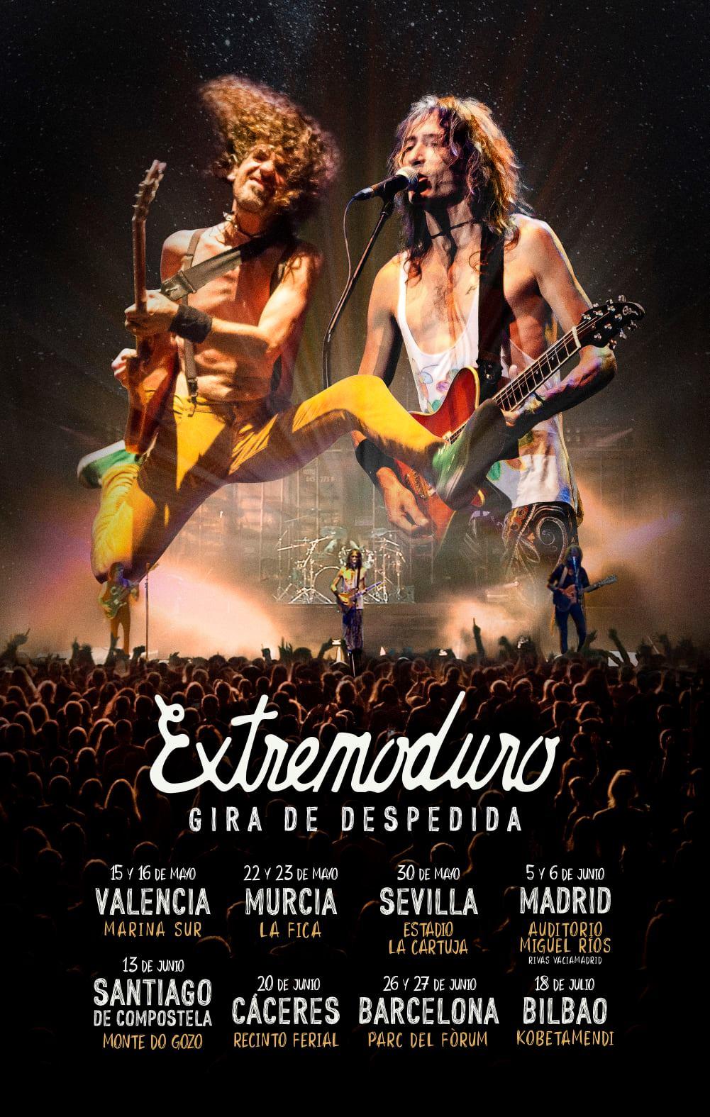 extremoduro gira despedida 2020 madrid concierto cartel