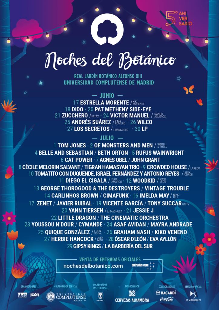 cartel noches del botanico 2020