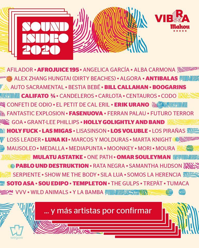 cartel sound isidro 2020 madrid febrero