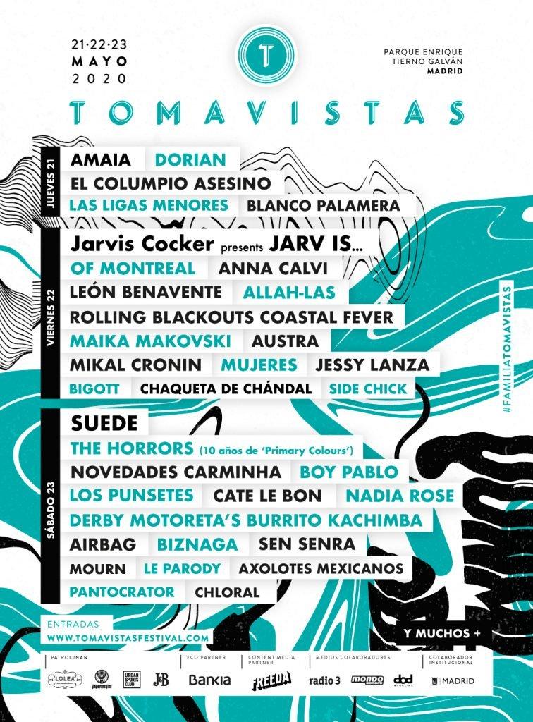 cartel tomavistas festival 2020 avance febrero