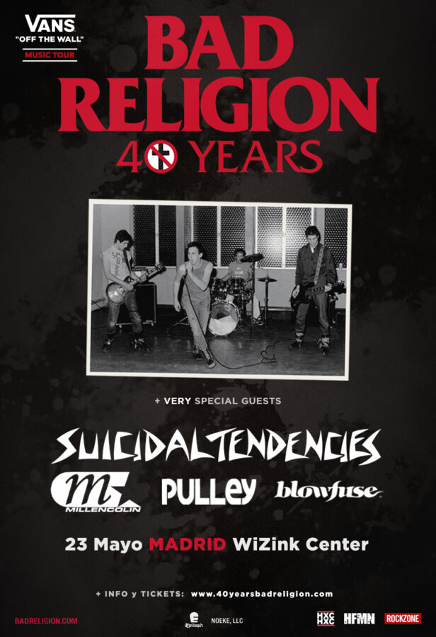 bad religion cartel concierto madrid 2020