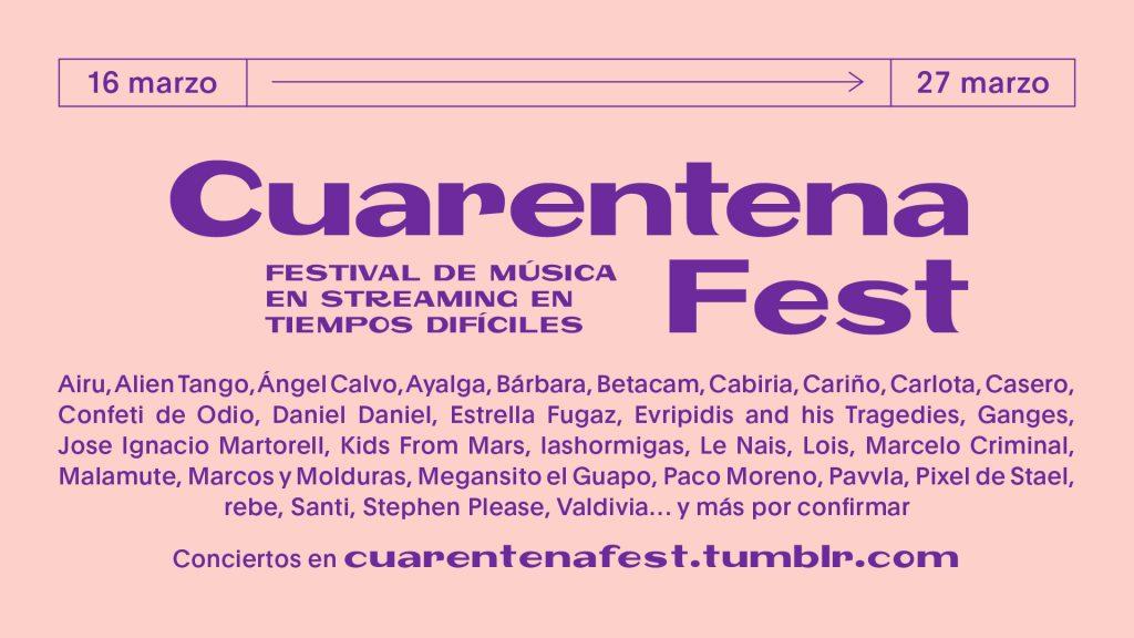 cuarentena fest coronavirus música